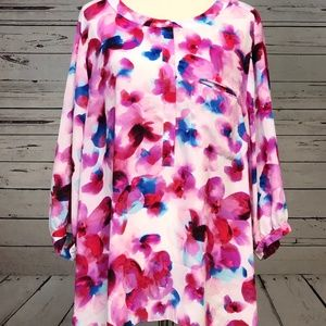 NYDJ Not Your Daughter's Jeans 2X Blouse Floral